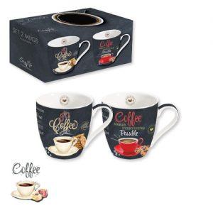 Набор из 2 кружек Итальянский кофе 350 мл