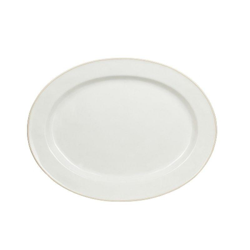 Блюдо овальное COSTA NOVA ASTORIA 40 см белый