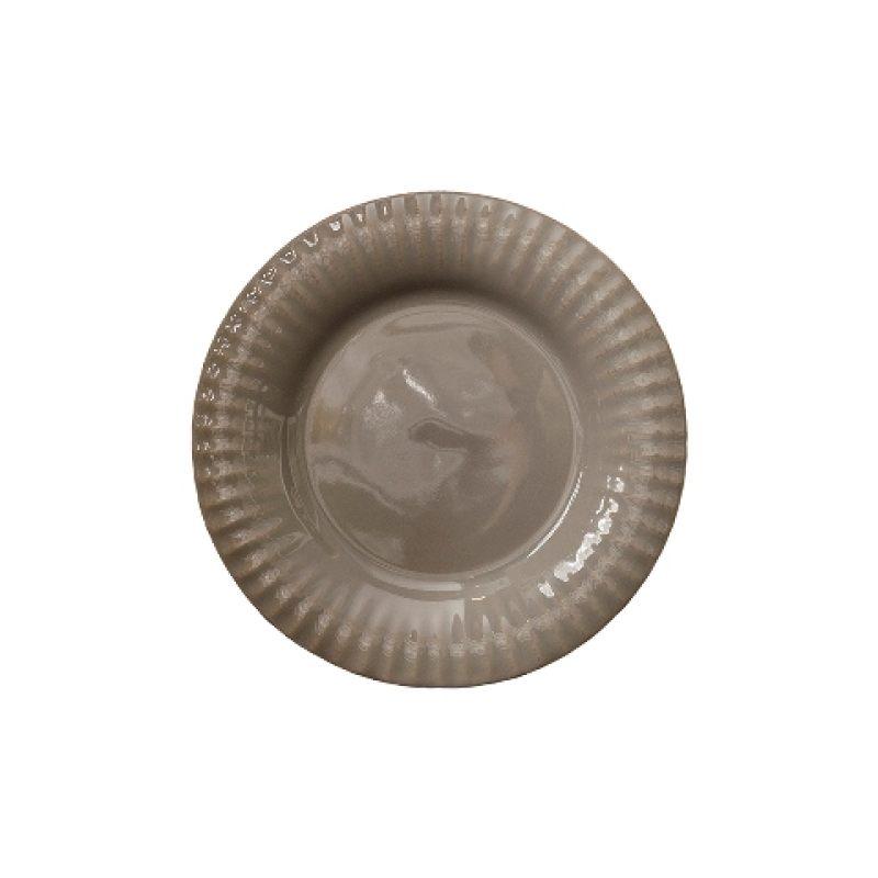 Тарелка COSTA NOVA Village 22 см коричневый