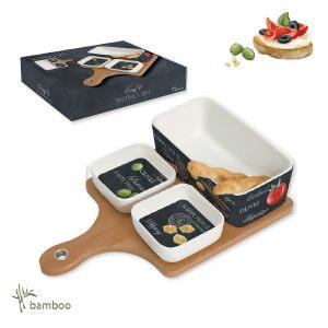 Набор для закусок Мир сыров: 2 блюда, салатник, поднос