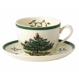 Чашка для чая с блюдцем SPODE CHRISTMAS TREE