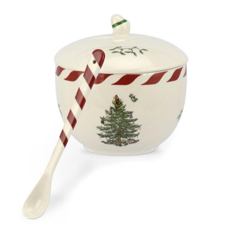 Емкость с ложкой SPODE CHRISTMAS TREE