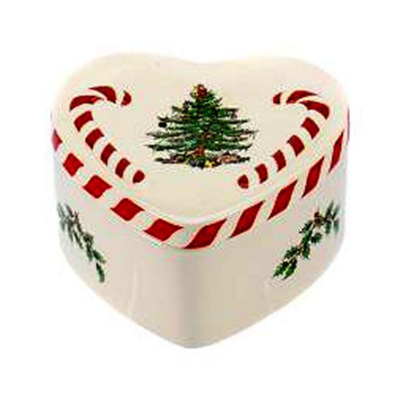 Коробочка с крышкой в виде сердца SPODE CHRISTMAS TREE