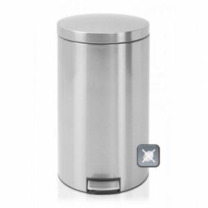 Бак для мусора Brabantia двухсекционный - Matt Steel Fingerprint Proof (матовая сталь с защитой от отпечатков пальцев)
