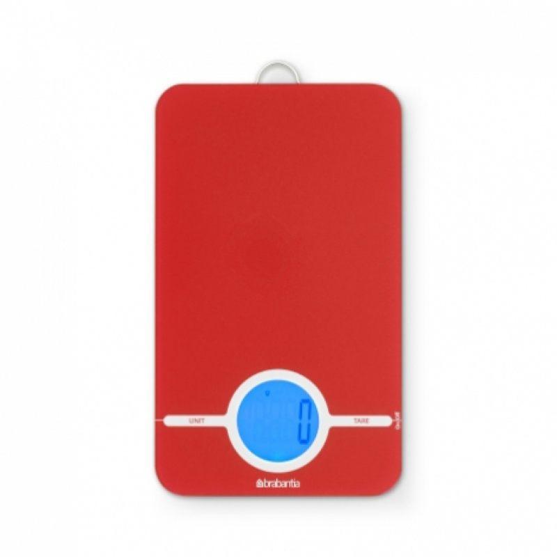 Цифровые кухонные весы Brabantia - Red (красный)