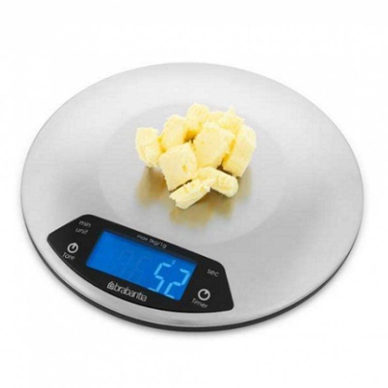 Цифровые кухонные весы Brabantia - Matt Steel (матовая сталь)