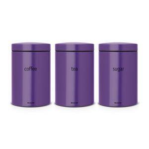 Набор контейнеров для кофе, чая и сахара Brabantia (3 предмета) - Purple (фиолетовый)