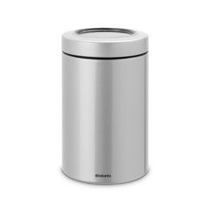Контейнер с прозрачной крышкой Brabantia 1,4л - Metallic grey (серый металлик)