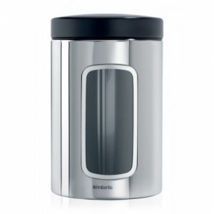 Контейнер для сыпучих продуктов Brabantia с окном (1,4 л) - Brilliant Steel (полированная сталь)