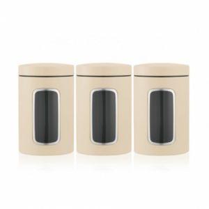 Набор контейнеров Brabantia с окном (3 предмета по 1,4л) - Almond (миндальный)