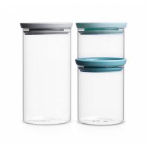 Набор модульных стеклянных банок Brabantia (3штуки)