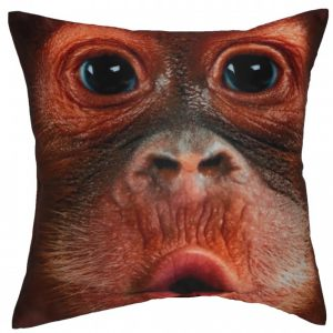Декоративная подушка с мордашкой симпатичной обезьянки