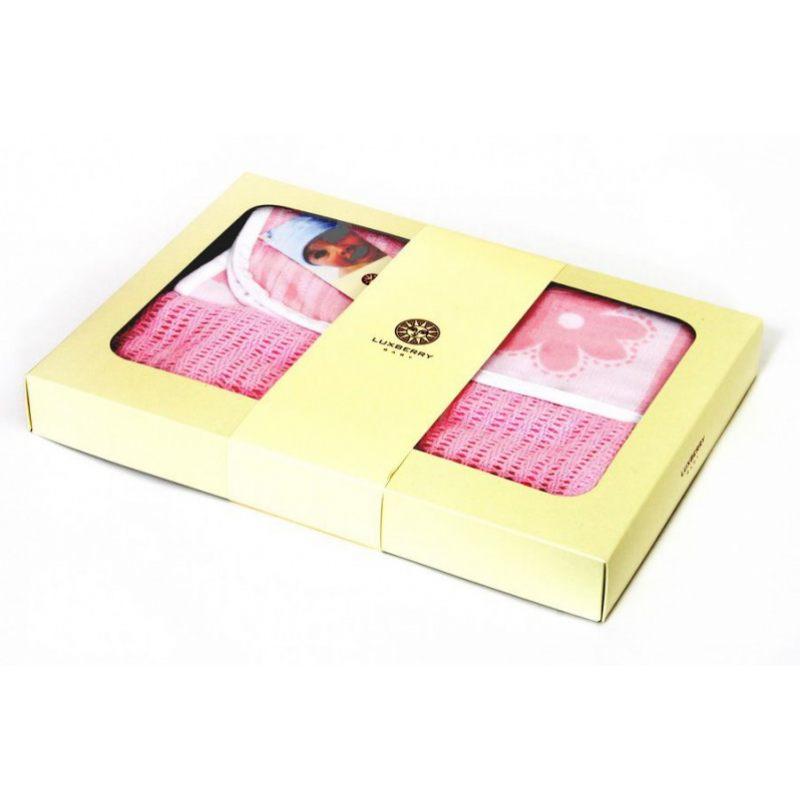 """Набор детский из 2-х пледов SET """"LUX 2287"""", розовый/белый"""