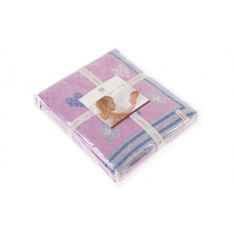 """Плед детский """"Lux Bear"""", розовый/голубой/серый"""