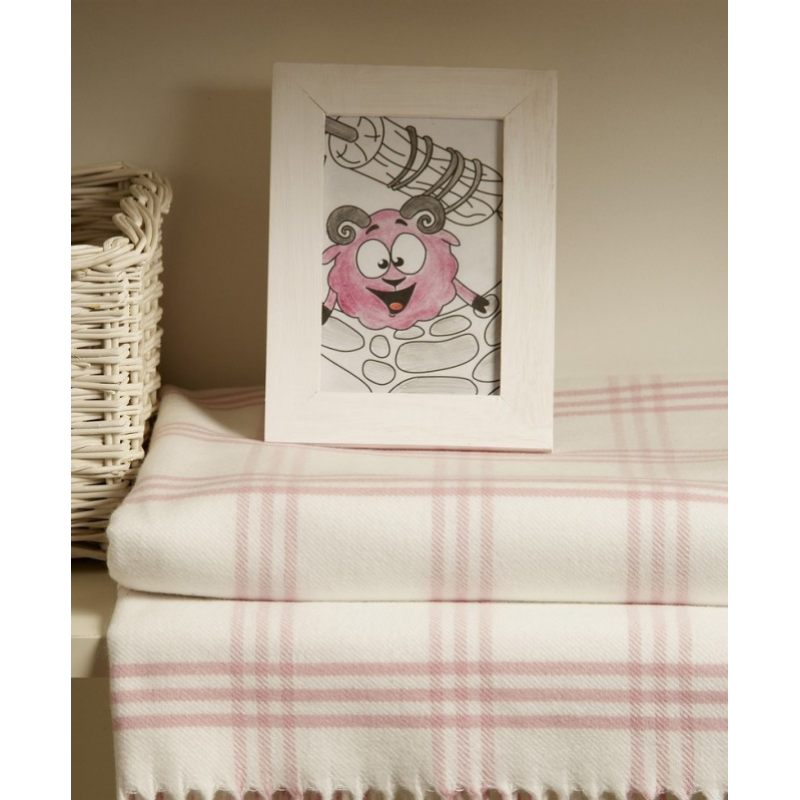 "Плед детский ""LUX 519"", розовый/белый, Luxberry"