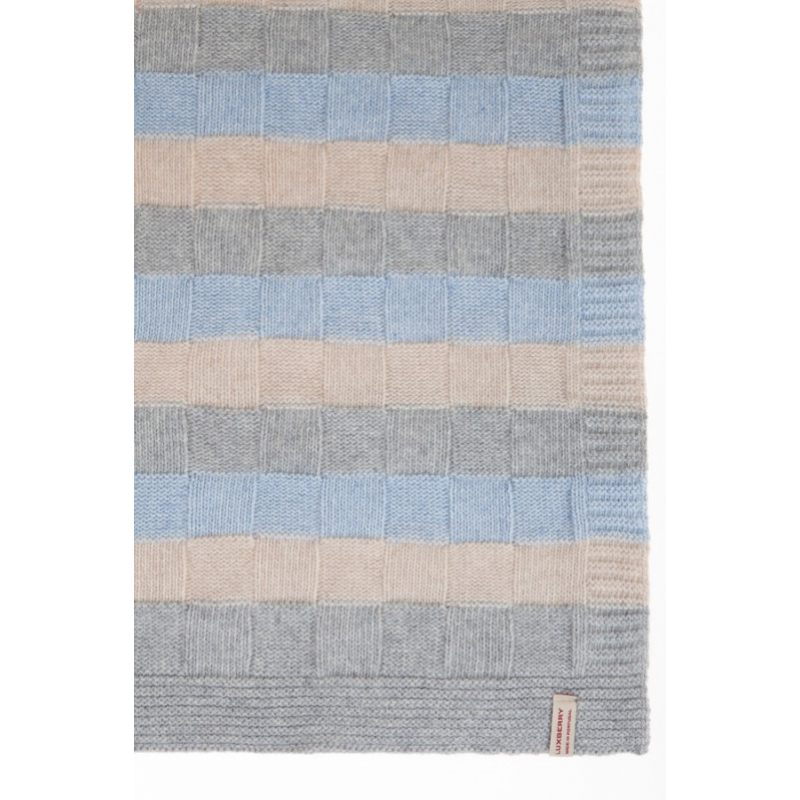 "Плед детский ""LUX 218"", голубой/серый/бежевый"