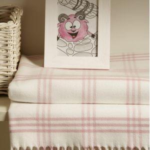 """Плед детский """"LUX 519"""", розовый/белый"""