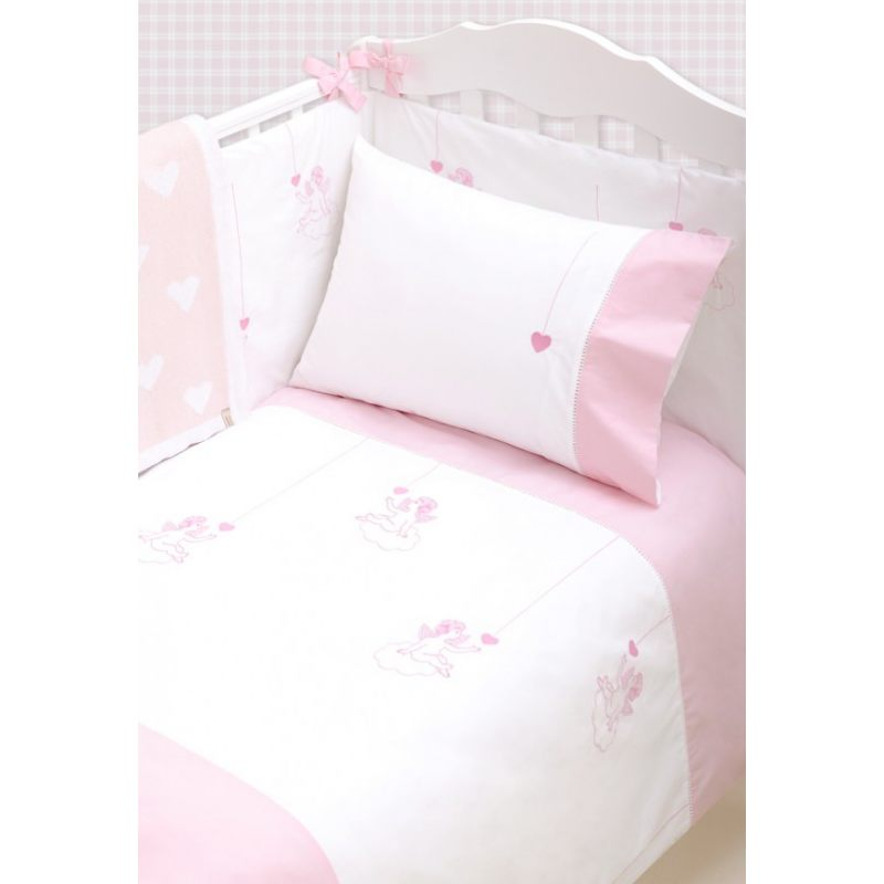 """Комлект детского постельного белья """"ANGELS"""", белый/розовый"""