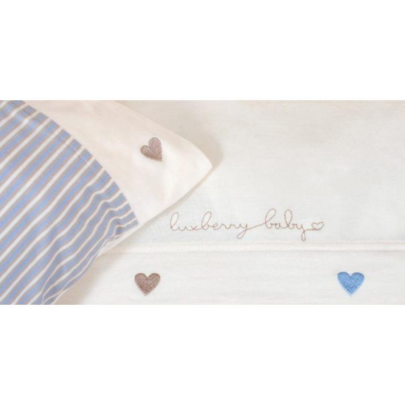 Комплект детского постельного белья, голубой-экрю