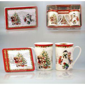 Набор для чая в жестяной подарочной коробке Новогодняя сказка