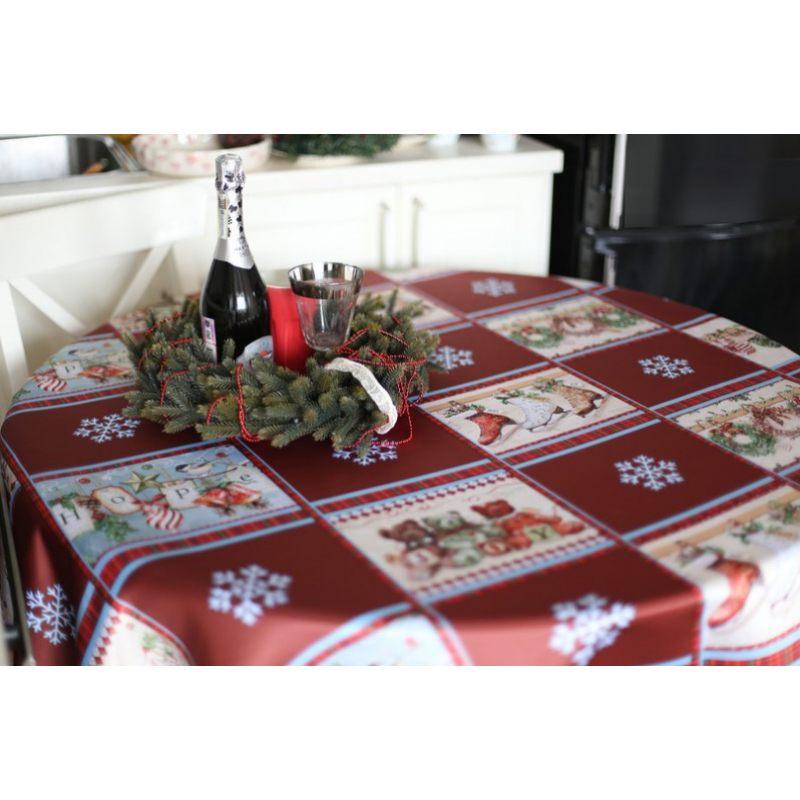 Праздничная скатерть для новогоднего стола