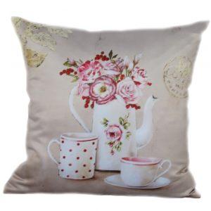 Декоративная подушка с чайником