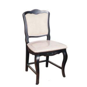 Стул с мягким сиденьем Mobiler de Maison Saphir noir