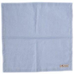 Праздничная текстильная голубая салфетка