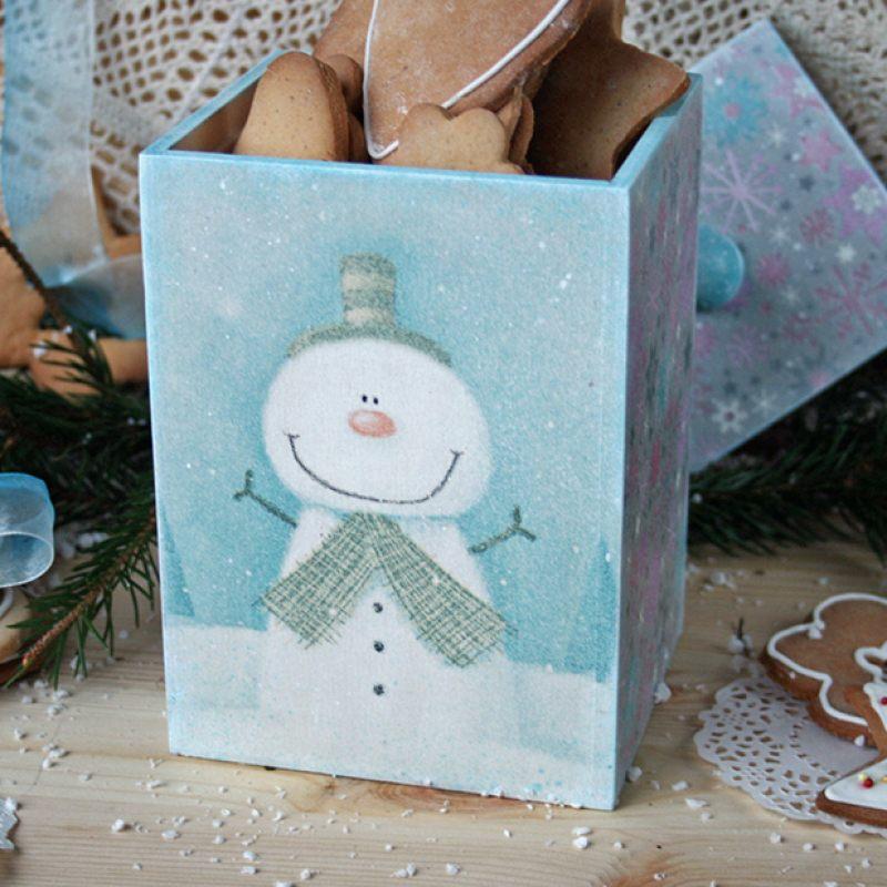 Короб Счастливый снеговик