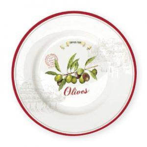 Тарелка закусочная 19см Оливки