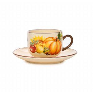 Чашка с блюдцем 250мл Дары осени