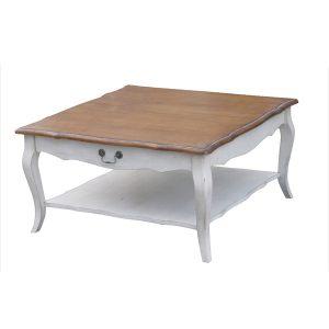 """Низкий чайный столик (квадратный) Mobiler de Maison Blanc bonbon """"Белая карамель"""""""