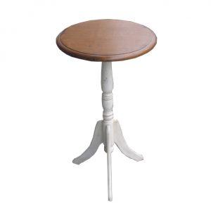 """Кофейный столик (круглый) Mobiler de Maison Blanc bonbon """"Белая карамель"""""""