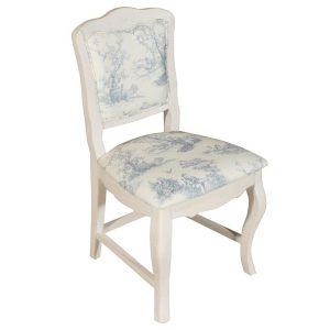 """Стул с мягким сиденьем Mobiler de Maison Blanc bonbon """"Белая карамель"""" голубой"""