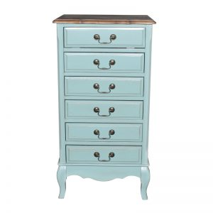 """Высокий комод Mobiler de Maison Bleu aquamarine """"Морской голубой"""""""