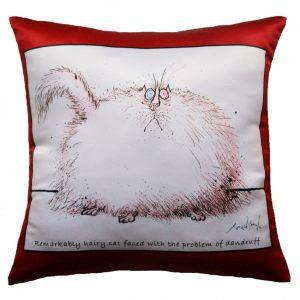 Прикольная декоративная подушка Кот-1