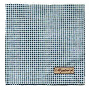 Текстильная салфетка в голубую клетку