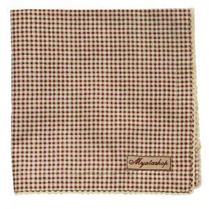 Текстильная салфетка в коричневую клетку