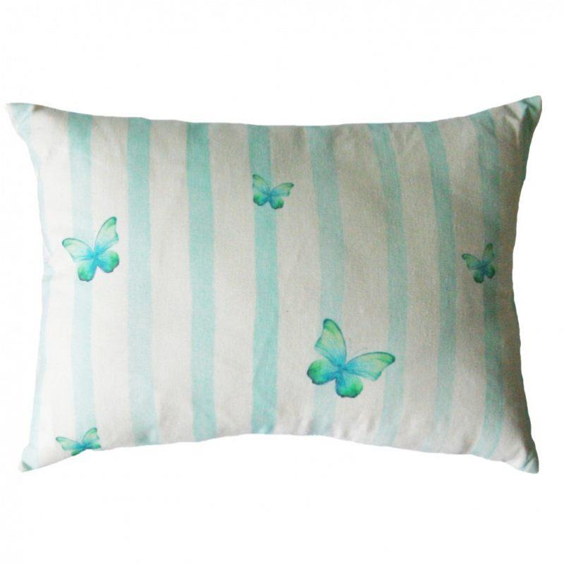 Подушка чаепитие с бабочками