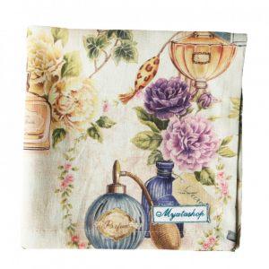 Текстильная салфетка розовый парфюм