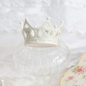 Вазочка из керамики в виде короны