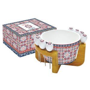 Набор для закуски: салатник для оливок + 8 шпажек на подставке Мавритания