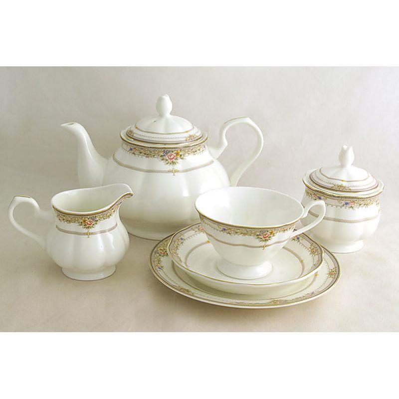 """Чайный сервиз Emerald """"Лэнсбери"""" 21 предмет на 6 персон"""