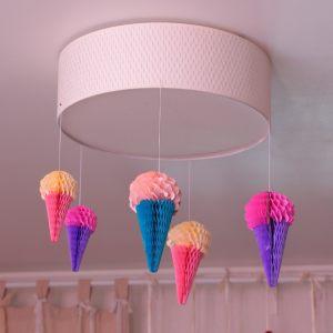 Декоративный фонарь в виде мороженого