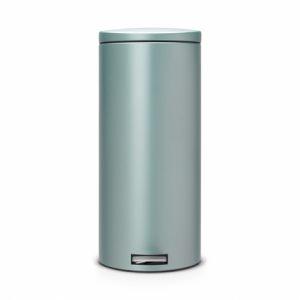 Бак для мусора Brabantia с педалью Silent - Metallic Mint (мятный металик)