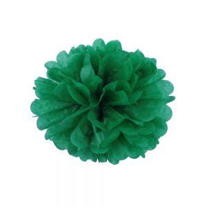 Цветок бумажный насыщено зеленый