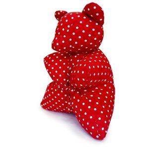 Подушка сувенирная Мишка красный