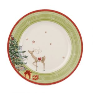 Тарелка десертная Christmas Jubilee Salad Plate Green Band
