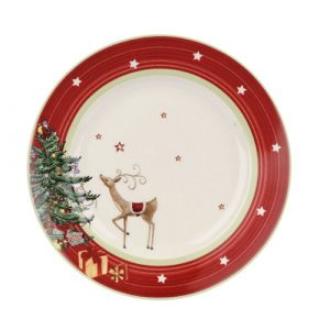 Тарелка десертная Christmas Jubilee Salad Plate Red Band