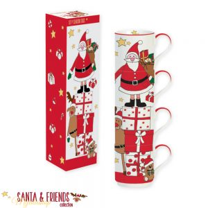 Набор кружек-башня Дед Мороз SANTA&FRENDS
